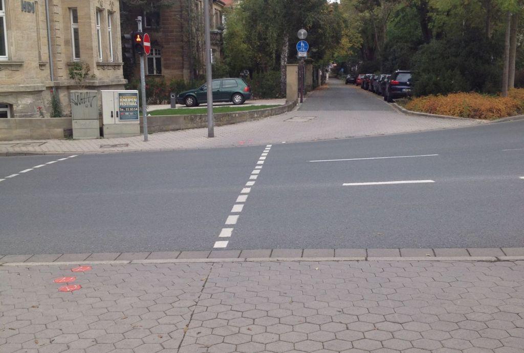 Zweite Ampel Bürgerreuther Straße