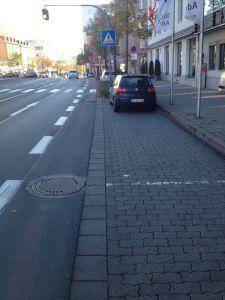 """""""Radfahrstreifen"""" Bahnhofstraße"""