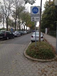 Anfang Fahrradstraße Bürgerreuther Straße