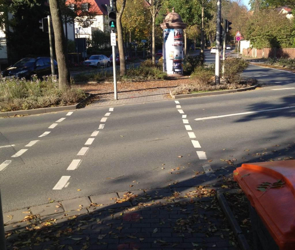 Dritte Ampel in der Bürgerreuther Straße