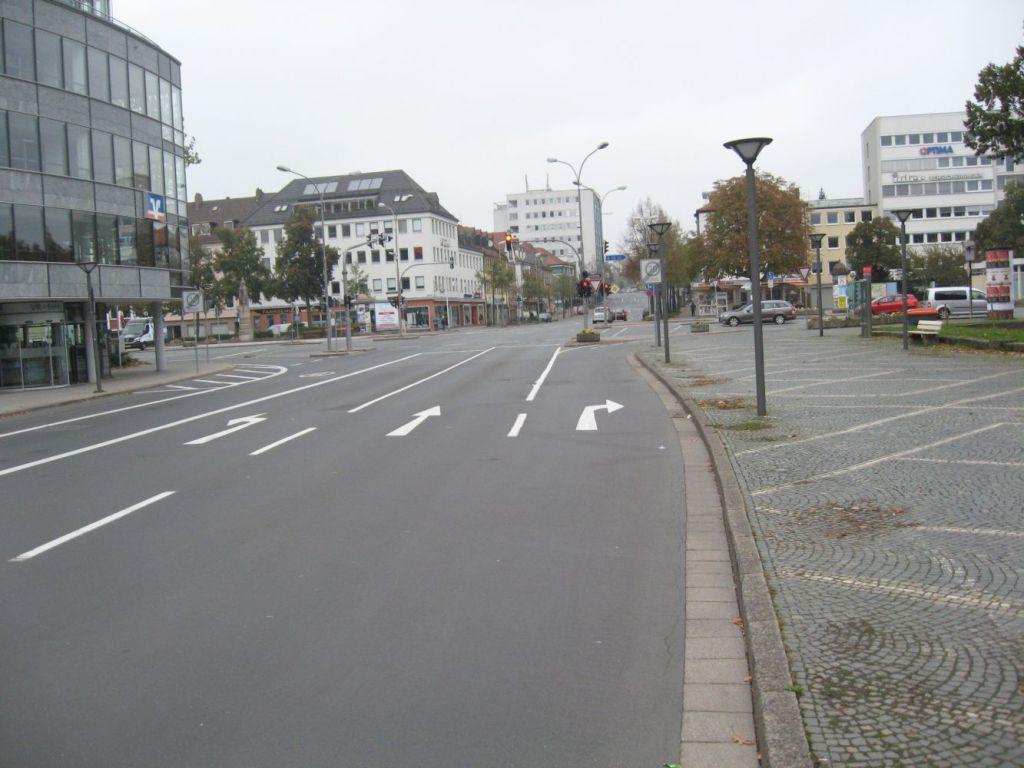 Blick auf die Bahnhofstraße.