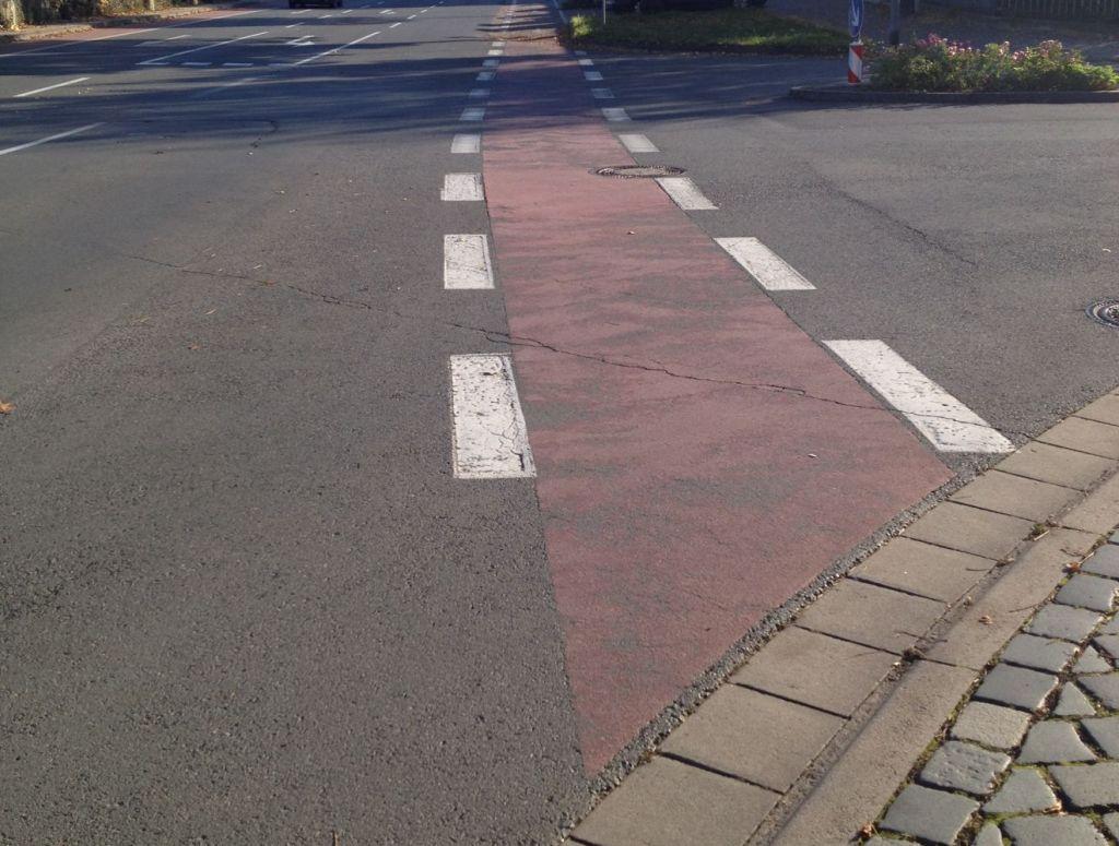 """Übergang Fahrradstraße auf """"Radfahrstreifen"""""""