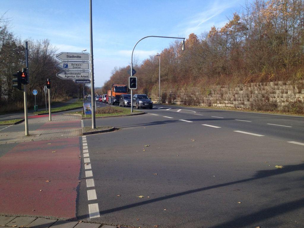 """Nach nur 70 Metern gilt kein """"Verbot für Radfahrer"""" mehr."""