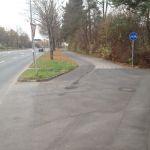 Hier beginnt der benutzungspflichtige Radweg.