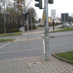 Radfahrerampel Richtung Dr.-Würzburger-Straße