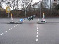 Baustellenabsicherung in Bayreuth. Nicht so wichtig, betrifft nur unmotorisierten Verkehr.