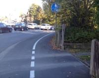 Was soll der Trennstrich auf einem gemeinsamen Fuß- und Radweg?